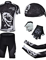 CHEJI Cycling Short Sleeves Sets & Pirate Hat + Gloves + Sleeves