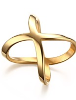 Ms Creative Geometric Hollow Out 18 K Gold Ring