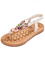 Women's Shoes Leatherette Flat Heel Comfort Sandals Casual Black / White