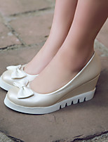 Women's Shoes Wedge Heel Round Toe Heels Casual Blue / Pink / Beige