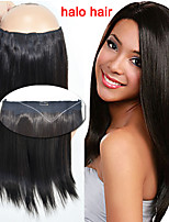 High Quality 1pcs/bag 100g Straight Flip in Hair Extensions Black Human Remy Hair Halo Hair Extensions 16''-20''