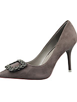 Women's Shoes Velvet Stiletto Heel Heels Heels Casual Black / Pink / Red / Gray / Beige / Khaki