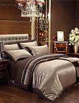 best verkopen goud en bruin beddengoed huwelijkscadeau dekbedovertrek set edele en elegante huishoudtextiel 4 stuks koninginkoning