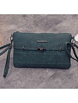 Women PU Baguette Shoulder Bag - Green / Gray / Black / Burgundy