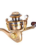 Mini Metal Fishing Spinning Reel ,12+1 Ball Bearing Gear Rate 5.2:1 Interchangeable Handle