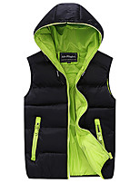 Men work warm hooded waistcoat of cultivate one's morality leisure fashion vest vest MAIB1