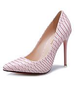 Scarpe Donna-Scarpe col tacco-Formale / Casual-Tacchi / A punta / Chiusa-A stiletto-Finta pelle-Nero / Rosa / Bianco / Argento