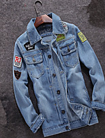 Japanese men wear spring quarter s casual denim jacket slim hole retro jacket men clothes tide