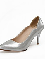 Women's Shoes Leatherette Stiletto Heel Heels Heels Wedding / Office & Career / Party & Evening Blue / Silver / Gold