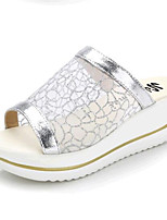 Women's Shoes Tulle Platform Creepers / Slippers Sandals Casual Silver / Gold