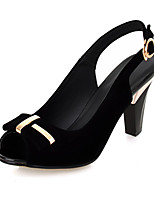 Women's Shoes Chunky Heel Peep Toe / Slingback Sandals Office & Career / Party & Evening / Dress Black