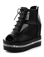 Women's Shoes  Platform Wedges / Peep Toe / Platform Sandals Outdoor Black / White