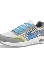 Men's Running Shoes Leather / Tulle Black / Blue / Gray