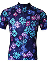 JESOCYCLING Women's Spring And Summer 100% Polyester Breathable Short Sleeve Cycling Jersey