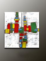 håndmalede abstrakte moderne oliemaleri, lærred to paneler