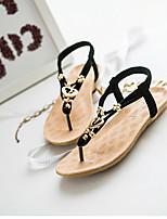 Women's Shoes Leatherette Flat Heel Comfort Sandals Casual Black / White