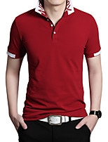Men's Short Sleeve Polo,Polyester Casual / Work / Formal / Sport / Plus Sizes Pure