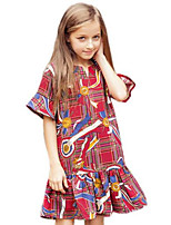 Girl's Red Dress Cotton Spring