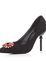 Women's Shoes Fleece Stiletto Heel Heels Heels Party & Evening / Dress / Casual Black / Pink