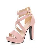 Women's Shoes Leatherette Stiletto Heel Peep Toe Sandals Wedding / Office & Career / Party