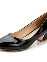 Chaussures Femme-Habillé / Décontracté-Noir / Amande-Talon Cône-Talons / Bout Pointu / Bout Fermé-Talons-Similicuir