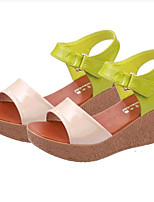 Women's Shoes Leatherette Summer Creepers Outdoor / Casual Platform Buckle Green / Beige