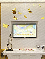 DIY Lovely Butterfly Mirror Wall Stickers