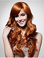 Hot European Women Lady Long Curly Brown Color Synthetic Hair