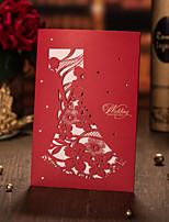 Cartes d'invitation / Faire-Parts de Fiançailles Invitations de mariage Plis Fenêtre Personnalisé 50 Pièce/Set