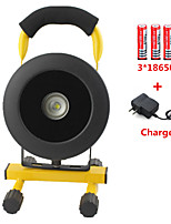 Rechargeable CREE XM-L L2 LED Floodlight Portable Spotlight Movable Lamp Outdoor Camping Light 3*18650/Charger
