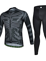 CHEJI Men Bicycle Cycling Sportwear Long Sleeve Clothing Suit Jersey + Trousers