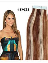 p8 / 613 # doppio nastro disegnato nelle estensioni dei capelli 100% di Remy capelli umani indiani marrone nero bionda pu promozione 20pcs