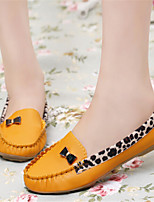 Women's Shoes Leatherette Flat Heel Comfort Flats Outdoor / Casual Black / Blue / Yellow / Red