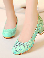 Women's Shoes Heel Heels / Round Toe Heels Office & Career / Dress / Casual Green / White / Almond