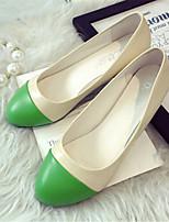 Women's Shoes Leatherette Flat Heel Comfort Flats Outdoor / Casual Yellow / Green / Orange