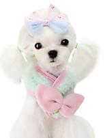 Perros Collar Ajustable/Retractable Verde / Rosado Textil