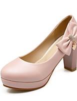 Zapatos de mujer - Tacón Robusto - Tacones - Tacones - Boda / Oficina y Trabajo / Fiesta y Noche - Semicuero -Azul / Rosa / Blanco /