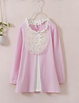 Robe Fille de Fleur Coton Printemps Automne Manches longues