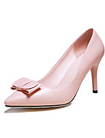Women's Shoes Stiletto Heel Heels / Pointed Toe Heels Office & Career / Dress Black / Pink / Red / White
