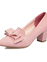 Chaussures Femme-Habillé-Noir / Rose / Gris-Gros Talon-Talons / Bout Pointu-Talons-Similicuir