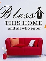 AYA™ DIY Wall Stickers Wall Decals, Bless This Home English Words & Quotes PVC Wall Stickers