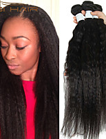 3 Bundles Kinky Straight Unprocessed Peruvian Virgin Hair Weave Yaki Straight Top Quality Peruvian Human Hair Weaves