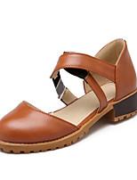 Women's Shoes Leatherette Chunky Heel Heels Heels Office & Career / Dress / Casual Black / Brown / Beige