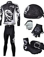Conjuntos de Roupas/Ternos / braço aquecedores / Protetores de Sapatos / Jersey / Chapéus(Preto) - deCiclismo / Motorbike-Homens-