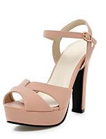Women's Shoes Chunky Heel Heels / Peep Toe / Platform Sandals Office & Career / Party & Evening / DressBlack /