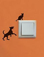 Animales / Formas Pegatinas de pared Calcomanías de Aviones para Pared , PVC W7.5cm x L6.4cm