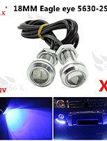 2X 23MM 9W blue LED Eagle Eye Daytime Running DRL Backup Light Fog Car Auto  12V