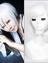 Top-Qualität kurzen geraden weißen Farbe Cosplay Stil synthetische Perücken