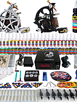 Solong Tattoo Complete Tattoo Kit 2 Pro Machine Guns 54 Inks Power Supply Foot Pedal Needles Grips Tips TK261