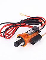 Illuminated Auto 12V Car Orange Cigarette Lighter Power Adapter Socket Plug Outlet Can Smoke For PEUGEOT 405 505